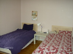 Yarrow (red) and Lily's (purple) room.